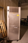 Traulsen Rolling Stainless Steel Refrigerator, Model G10011 115v, 60 Hz, Single Phase, 15 Max Amps 134A Refrigerant At 16 Oz.33.5x30x83.5TRuns Does Not Cool