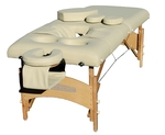 MSRP $1200 Close Horizon Portable Wooden Prenatal Pregnancy Massage Table With 3 Removable Inserts - Appears Brand New With Packaging & Carrying Case!