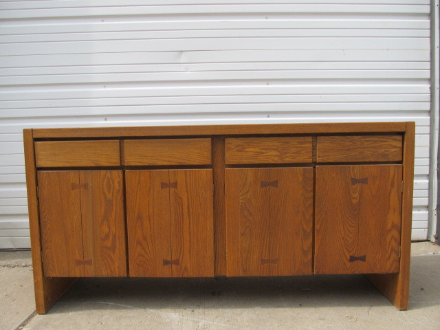 Mid Century 1950s Conant Ball Oak Sideboard Little Canada Estate