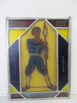 Vintage Stained Glass Military Sniper/Marksman Wall Hanging