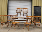 Mid Century 1950's CONANT BALL Oak Dining Table w/8 Chairs