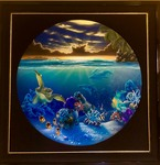 Monumental Original DALE ZARRELLA Hawaiian Sea Life Sunrise Painting