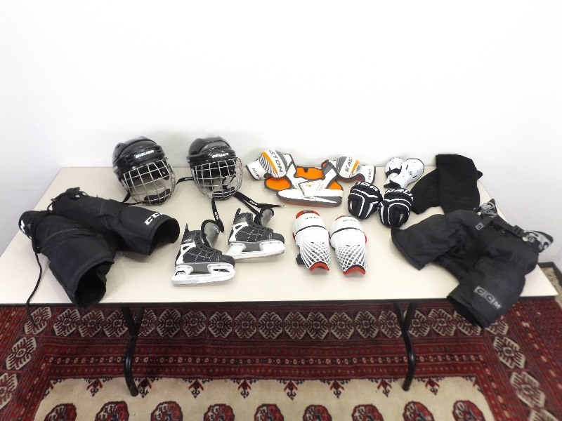Lot of Youth Hockey Helmets, Skates, Pads, etc  | EC #248