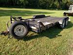 1986 Heavy 16' Flatbed Trailer, 4' ...