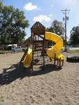 Large Climbing Play House With Tube Slide, Swing Set & Tire Swing
