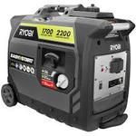 Ryobi 2,200-Watt Gray Gasoline Powered Digital Inverter Generator in working conditions