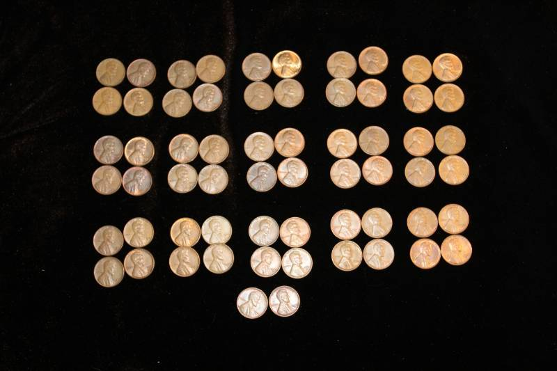 Lot of (55) Lincoln Wheat Pennies | Maple Plain Gold and Silver Coin