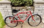 (Very Cool) Vintage Columbia Sterling Red w/ Chrome Fenders Men's Bicycle (model #R045782, Approx. mid 1960's)
