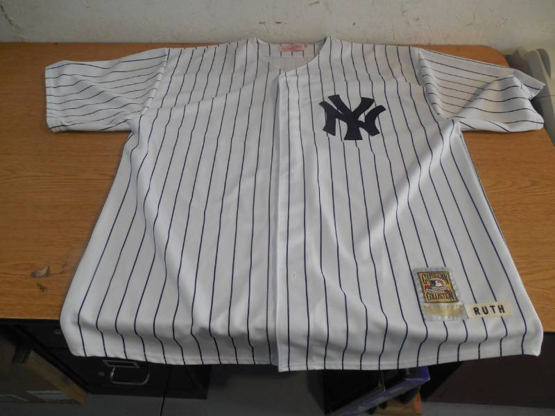 timeless design 67e52 3016b BABE RUTH MITCHELL & NESS YANKEES THROWBACK JERSEY 3X ...