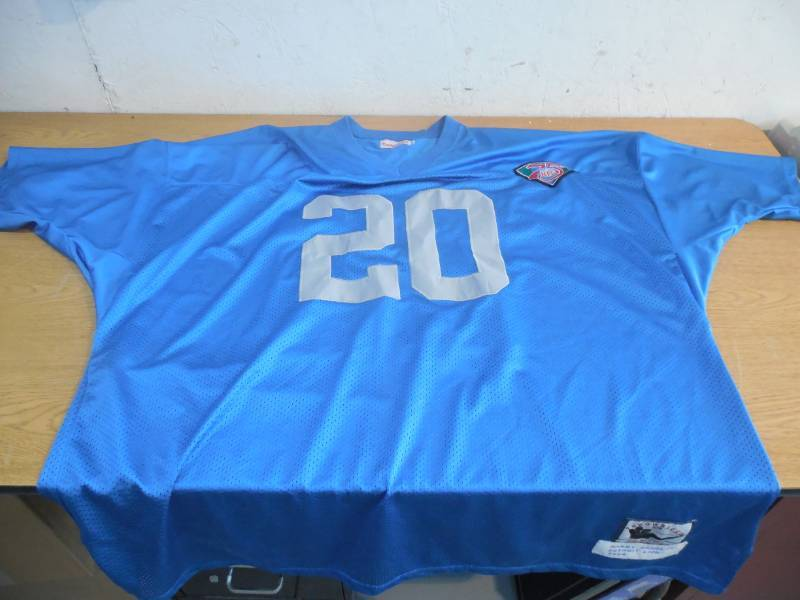 the latest 37451 5bb8d Barry Sanders Detroit Lions #20 Mitchell & Ness Throwback ...