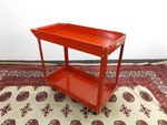 NEW Red Metal Rolling Work Cart