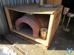 Forno Classico Wood Fired Pizza Oven with 40x48x56 portable metal stand and slate New