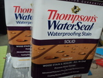 2 gallons Thompson water seal...