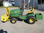 John Deere Lawn Tractor with Blower Deck