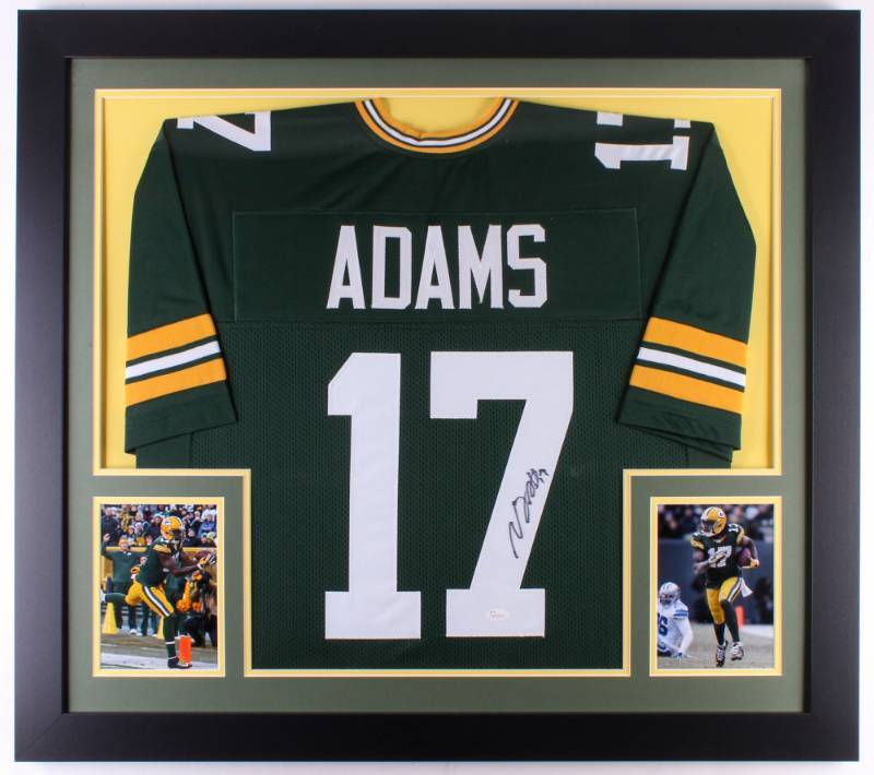 pretty nice ea1a0 314aa Davante Adams Signed Packers 31x35 Custom Framed Jersey (JSA ...