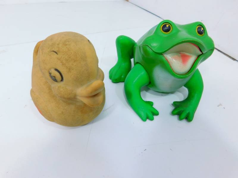 Vintage Frog & Rubber Duckie