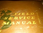 Boeing model B - 17 F field service manual restricted 1943 original - not a reprint.