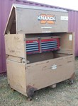 NEW NOTES AND PHOTOS! Heavy Duty Knack Rolling Toolbox (Piano Box) with Craftsman Toolboxes