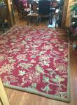 WOW MSRP $1500 Gorgeous Large Pottery Barn 8' x 10' Palampore Rug Red Floral Designs - Excellent Clean Condition - Little To No Wear - Color Varies With Light!