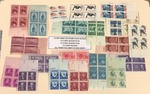 (21) Different Mint U.S. Stamp Plate Blocks