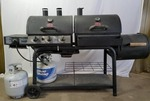 Char-Griller Duo Propane Gas/Charcoal Grill with 3 Burners - Black