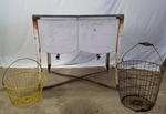 Double Stainless Steal Tub washer W/ Antique Onion & Potato Basket