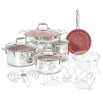 Deen Brothers GranIT Stone-Infused Nonstick 12-Piece Cookware Set, Retail $169.99