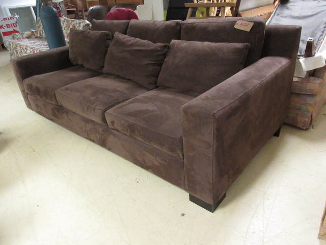 Ultra Suede Sofa Kan And Consignments