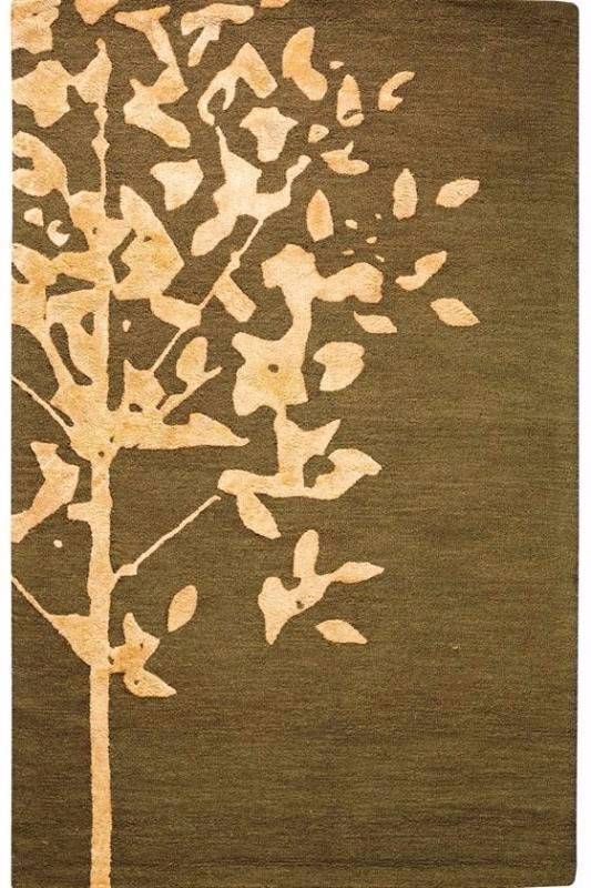 Woodland Large Area Rug 8 X 11 Brown 100 Wool Rugs Brand New