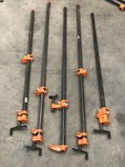 Lot Of (5) Steel Bar Clamps