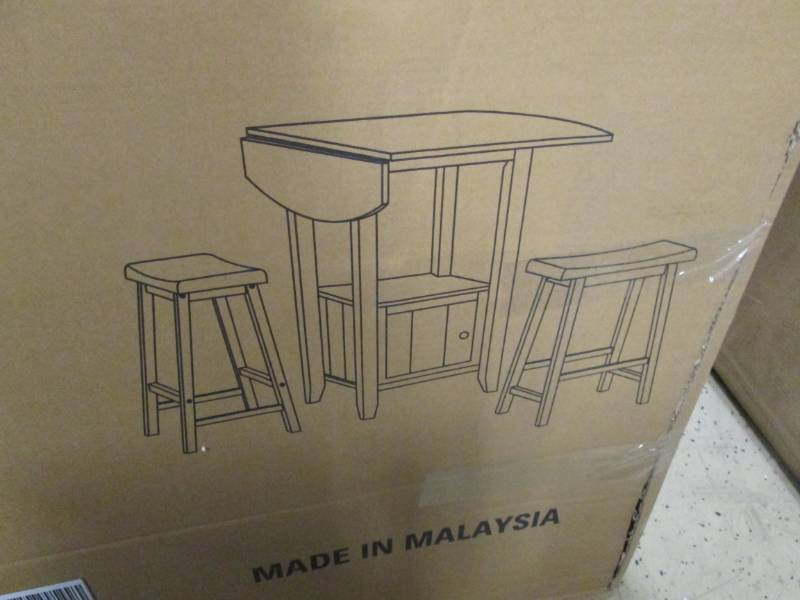 Kitchen Island with Stools open box... | Commercial ...
