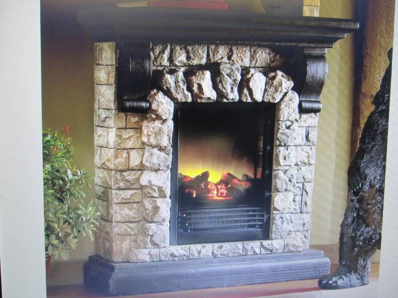 Faux Stone Fireplace Open Box Retai