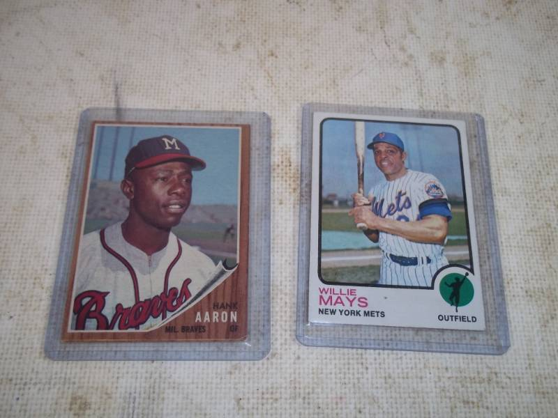 1962 Hank Aaron And 1973 Willie Mays Topps Cards Advanced