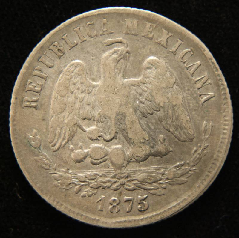 1875 MEXICO 2ND REPUBLIC SILVER 50 CENTAVOS | JANUARY 16th