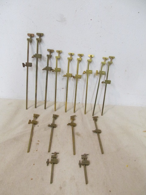 Large Lot Of Solid Brass Japanese Woodworking Clamps Little Canada Estate Auction Antiques Collectibles More K Bid