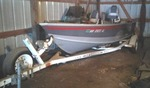 1998 Lund 16 Ft. 3 In. Aluminum Explorer+ Open Bow Boat & 1999 EZ-Load Trailer.