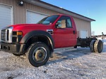 2008 FORD F-550 4X4 CHASSIS CAB 12FT