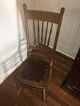 Press Back Oak Rocking Chair