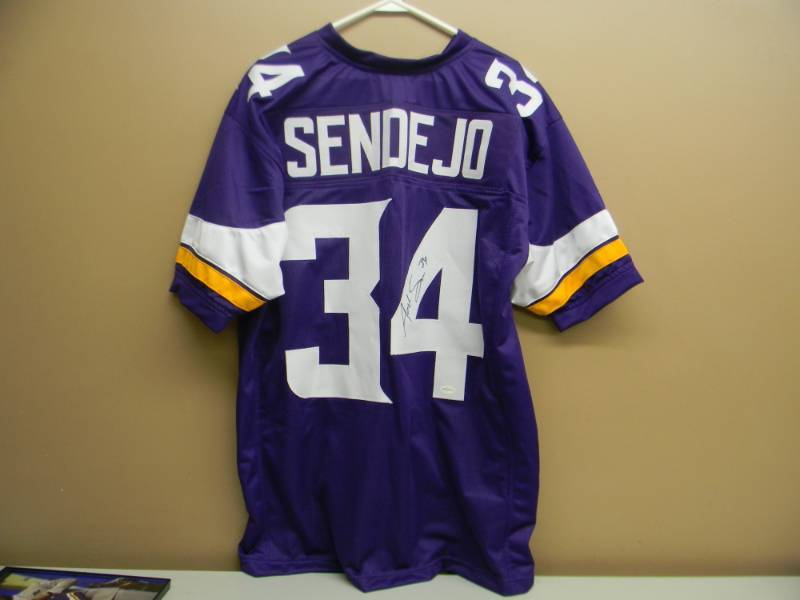 reputable site 5ec8a a51e5 SIGNED MINNESOTA VIKINGS ANDREW SENDEJO SIGNED JERSEY ...