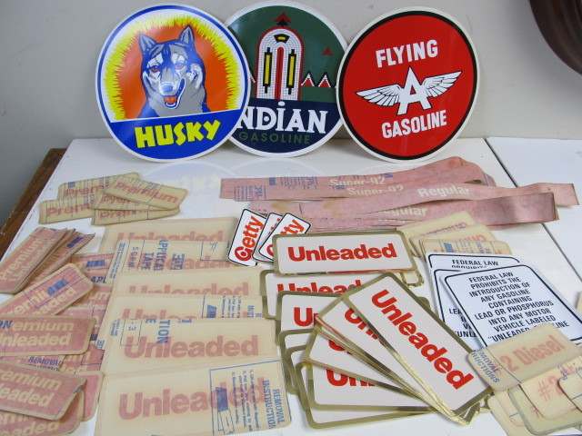 Lot of Vintage etc Gas Station Decals | Little Canada Estate