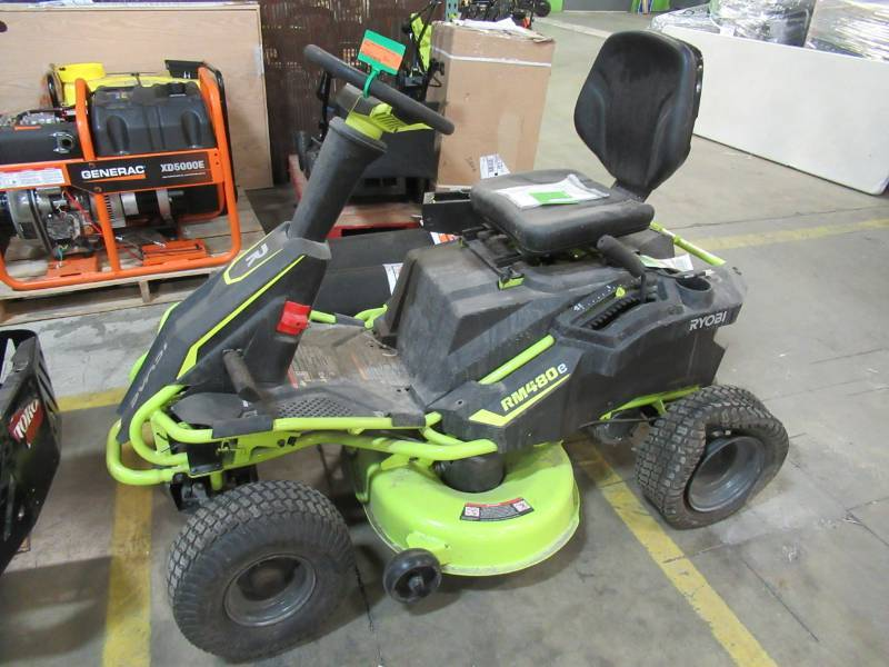 Ryobi 38 In Battery Electric Riding Lawn Mower Ry48110