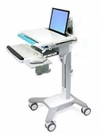 Retails NEW $1800 Medical Mobile Computer Workstation Ergotron Adjustable Sit Or Stand Computer Laptop Cart - Great Condition! #3