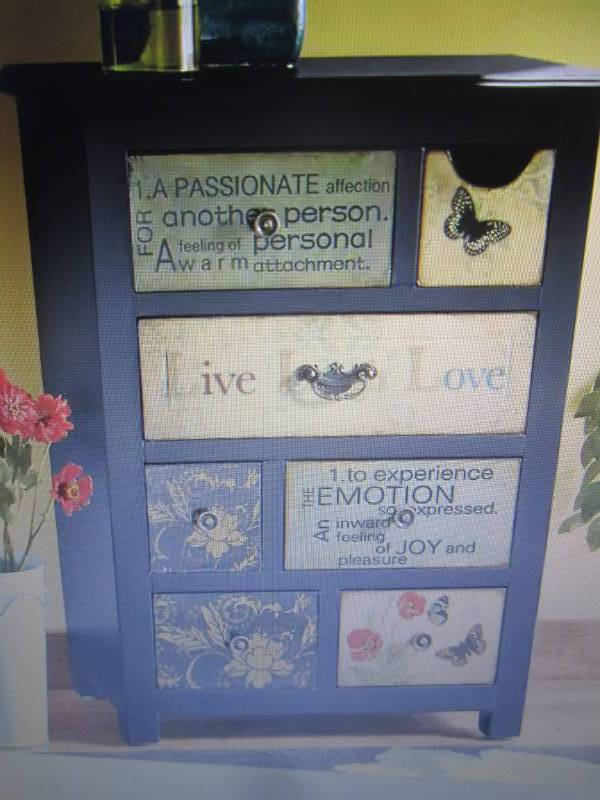 Live Laugh Love Cabinet Open Box Re