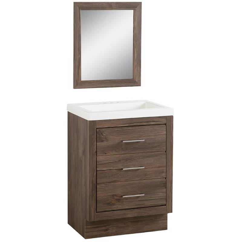 ecf80f1f25e Glacier Bay Collinswood 24 in. W Bath Vanity in Vintage Oak with ...