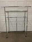 4' Retail Clothes Rack Adjustable Height