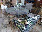 5 Piece Metal Patio Set; chairs wil...