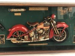 Harley Davidson Glass-Front Collectors 3-D Display