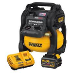 DEWALT FLEXVOLT 2.5 Gal. 60-Volt MAX Brushless Cordless Electric Air Compressor Kit w/ Battery 2Ah and Charger in very  good condition