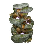 Alpine Rock Waterfall Fountain with LED Light not used