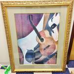 Large Beautiful Framed & Matted Artwork - Excellent Condition!